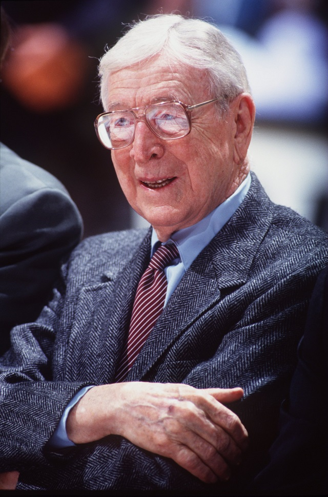 Former UCLA head basketball coach John Wooden