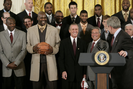 Photo Op and Remarks to the Miami HEAT. East Room.