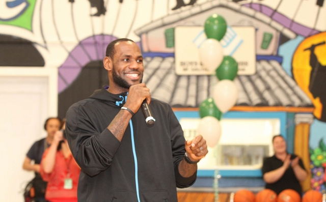 LeBron Jamesand Sprite Unveil Refurbished Gym at Boys & Girls Club in New Orleans