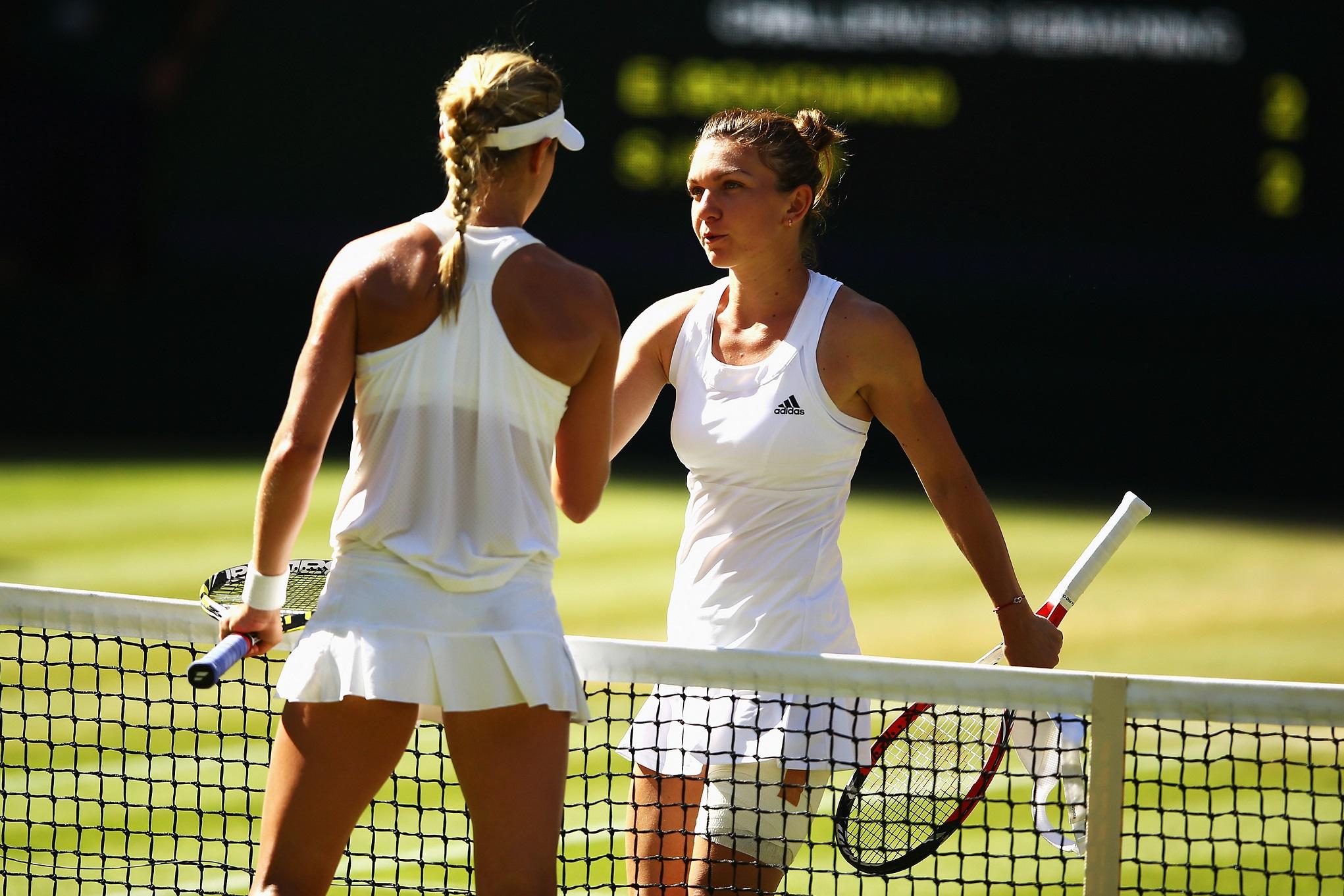 Simone Halep at Wimbledon