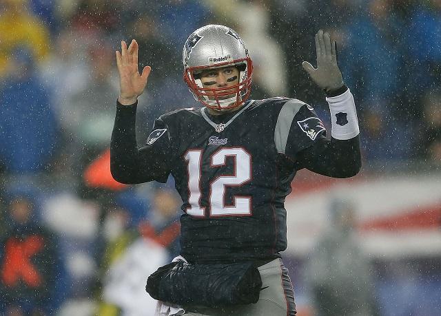 Tom Brady leads his team.