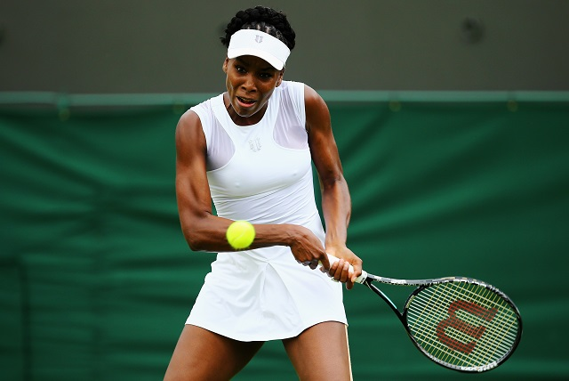 Venus Williams competes.