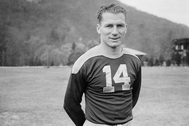 Green Bay legend Don Hutson poses for the camera.