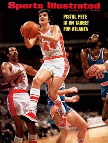 Pistol Pete Maravich graces the cover of Sports Illustrated.