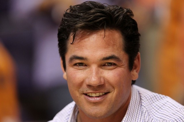 Dean Cain aka Superman smiles at the camera.