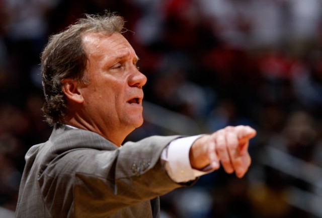 Flip Saunders points as he coaches.