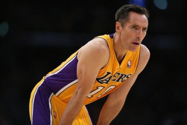 Steve Nash in between plays