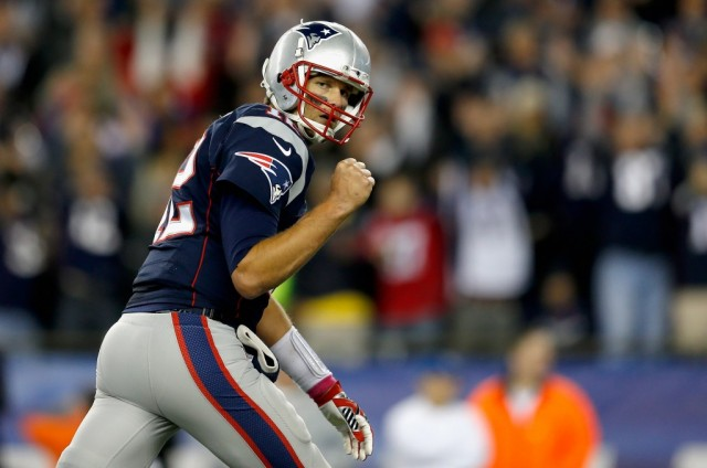 Tom Brady celebrates his success.
