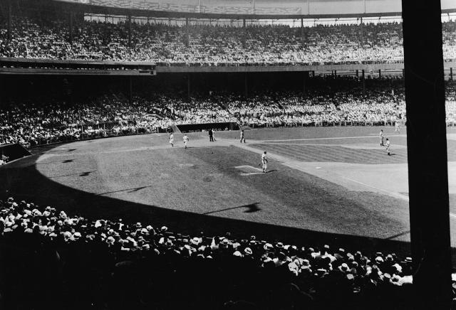 Baseball Game At New York City Polo Grounds