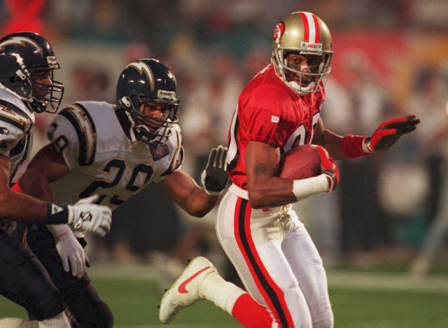 Jerry Rice on the move