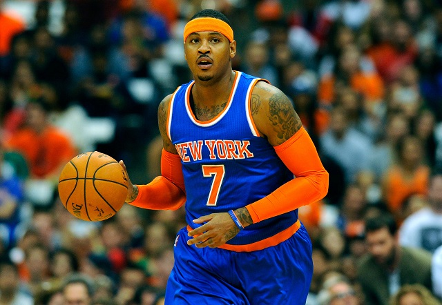 Carmelo Anthony against the 76ers