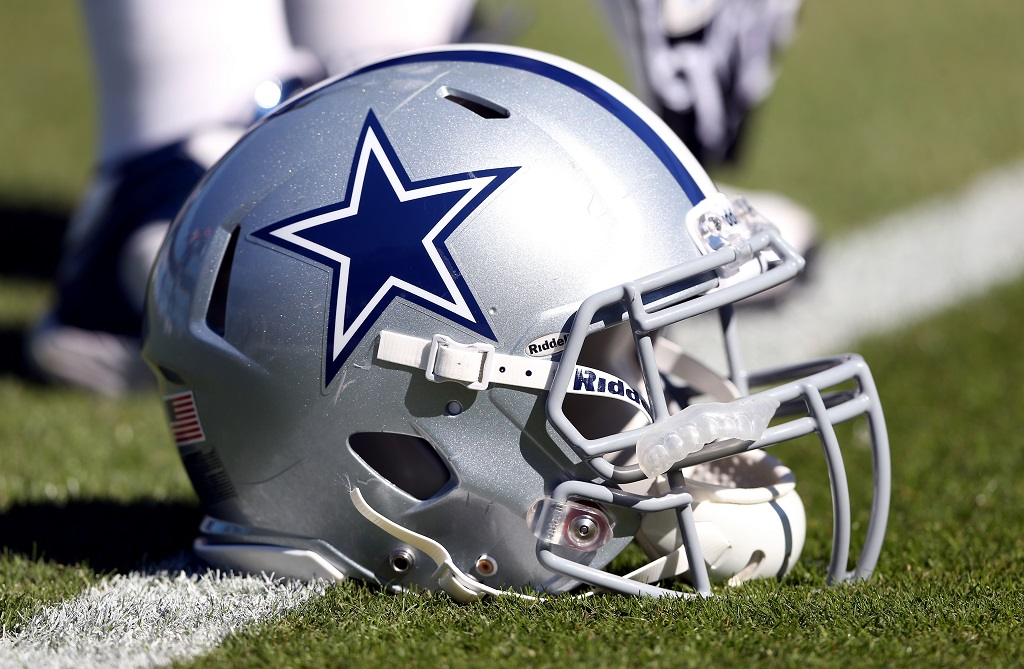 A Dallas Cowboys helmet