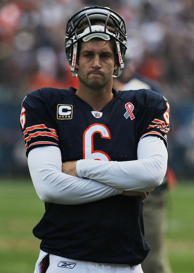 Jay Cutler looks on from the sidelines | Jonathan Daniel/Getty Images