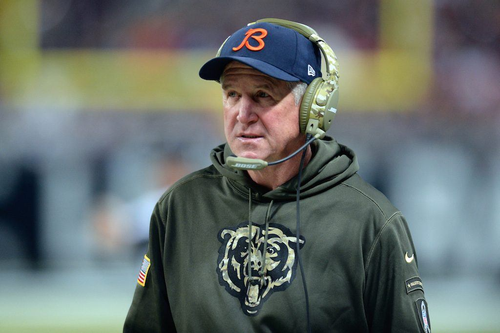 Bears head coach John Fox stands on the sideline during a game in 2016.
