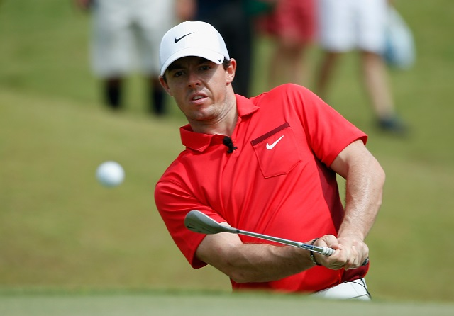 Rory McIlroy chips during the PGA Grand Slam of Golf