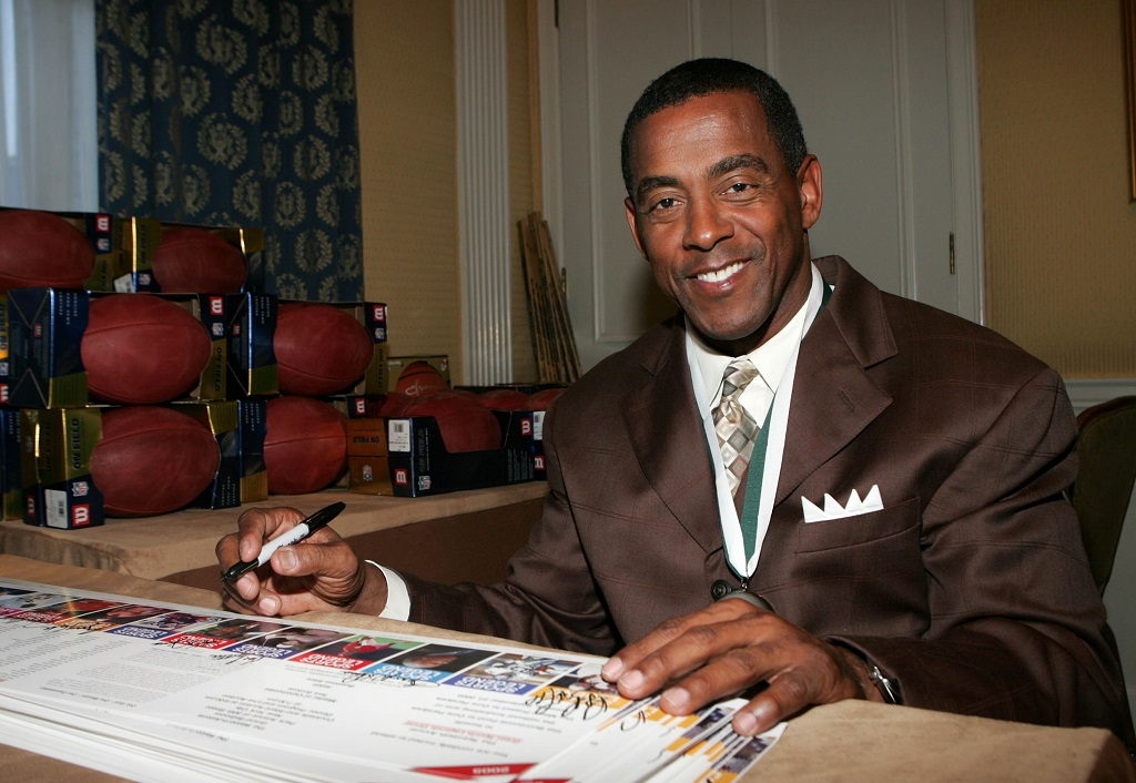Tony Dorsett attends the Great Sports Legends Dinner honoring sports legends.