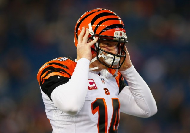 Andy Dalton leaves the field