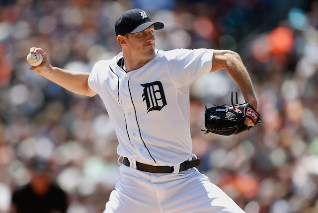 Max Scherzer of the Detroit Tigers pitches.