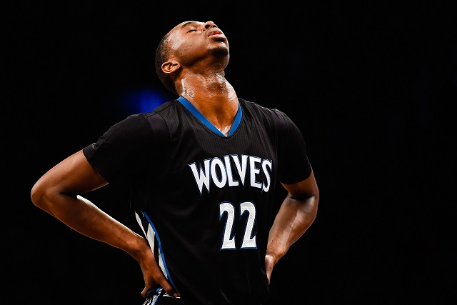 Andrew Wiggins takes a moment to reflect