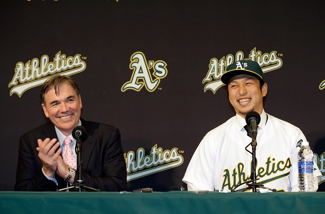 Oakland Athletics Introduce Hiroyuki Nakajima