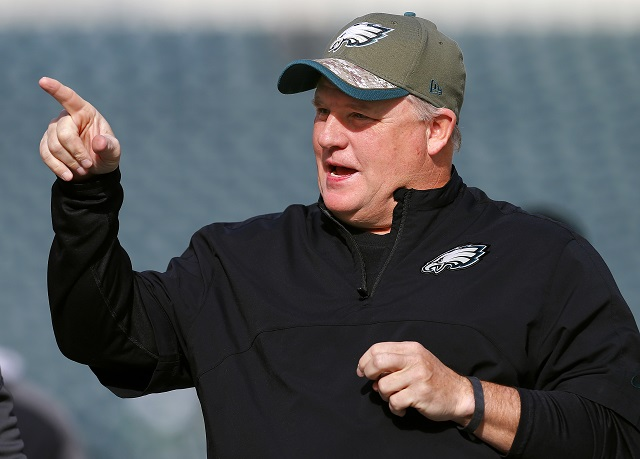 Chip Kelly prior to the Eagles games against the TItans