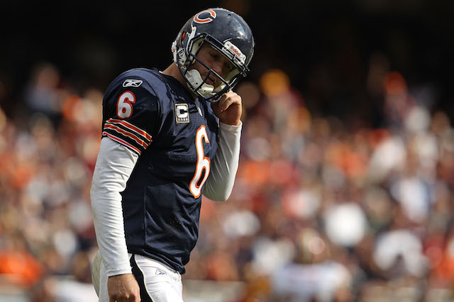 Jay Cutler against the Redskins