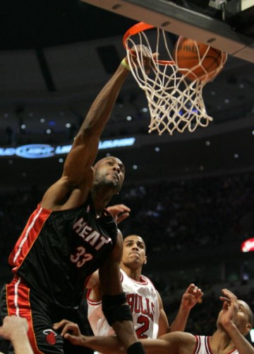 Miami Heat center scored nine points on 4-for-9 shooting