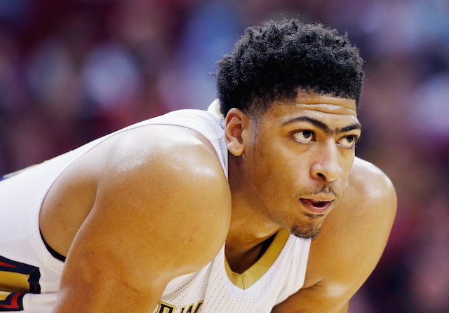Anthony Davis appears ready to play against the Houston Rockets
