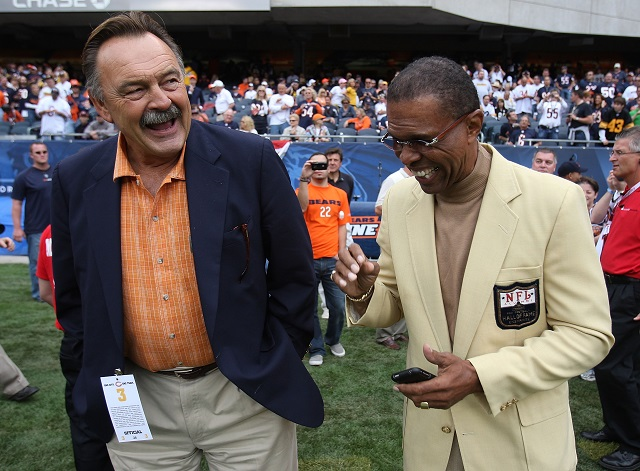 Dick Butkus with Gale Sayers