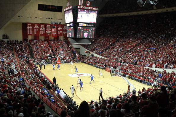 Indiana fans go wild in Assembly Hall.