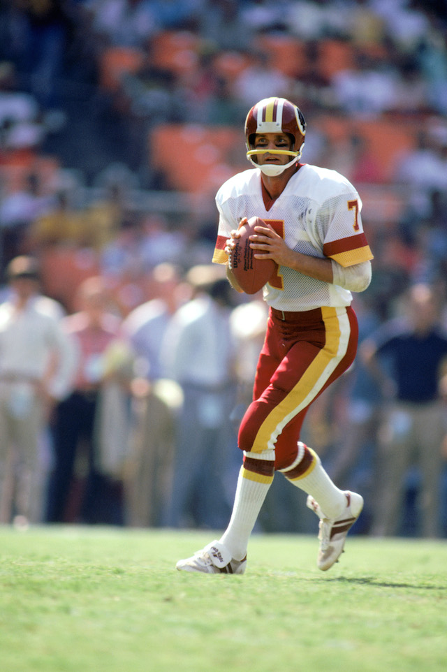 Joe Theismann was never able to play again after his broken leg.