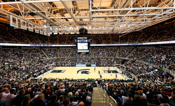 A view of the Spartans' basketball stadium.