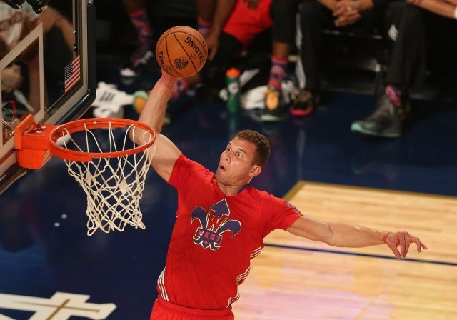 Blake Griffin torching the competition in the All-Star Dunk Contest.