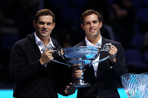 The Bryan Brothers hold another tennis award.