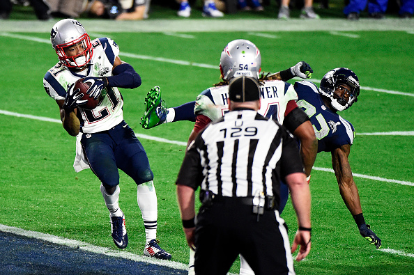Malcolm Butler intercepts the football.