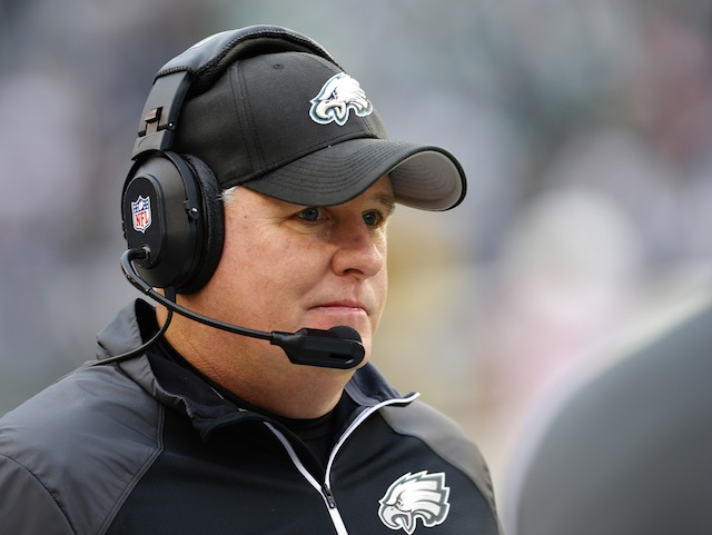 PHILADELPHIA, PA - DECEMBER 1: Head coach Chip Kelly of the Philadelphia Eagles looks on in the fourth quarter during a game at Lincoln Financial Field on December 1, 2013 in Philadelphia, Pennsylvania. The Eagles defeated the Cardinals 24-21. (Photo by Rich Schultz /Getty Images)