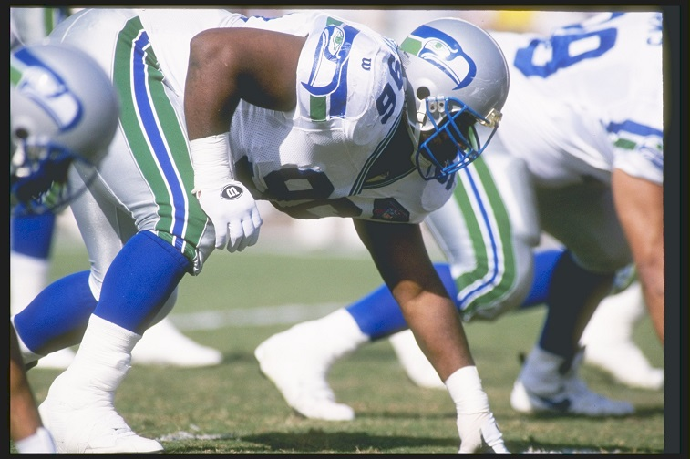 Cortez Kennedy lines up for a play.