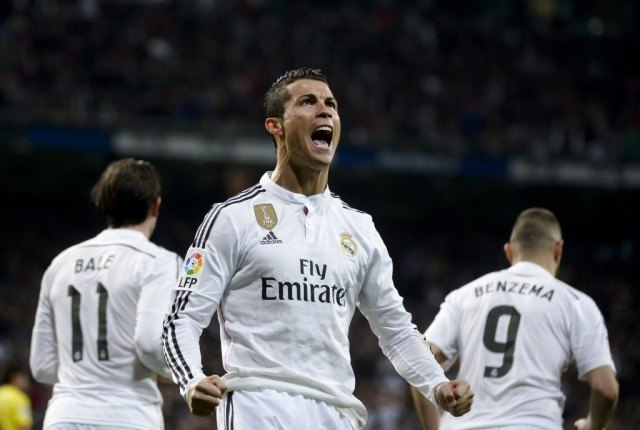 Cristiano Ronaldo celebrates after scoring against Villarreal