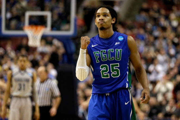 Sherwood Brown of Florida Gulf Coast University is excited.