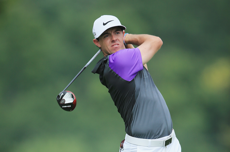 Rory McIlroy shoots at the PGA Championship