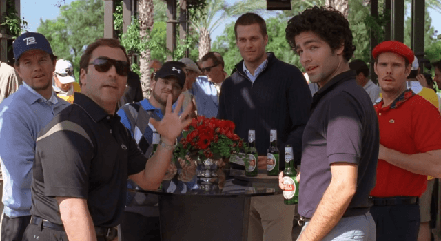 "Marky-Mark and the fellows from ""Entourage"" will have to find another QB to chug beers with."