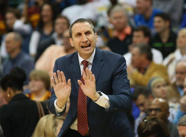 Cleveland coach David Blatt calling the shots during a game against the Mavs