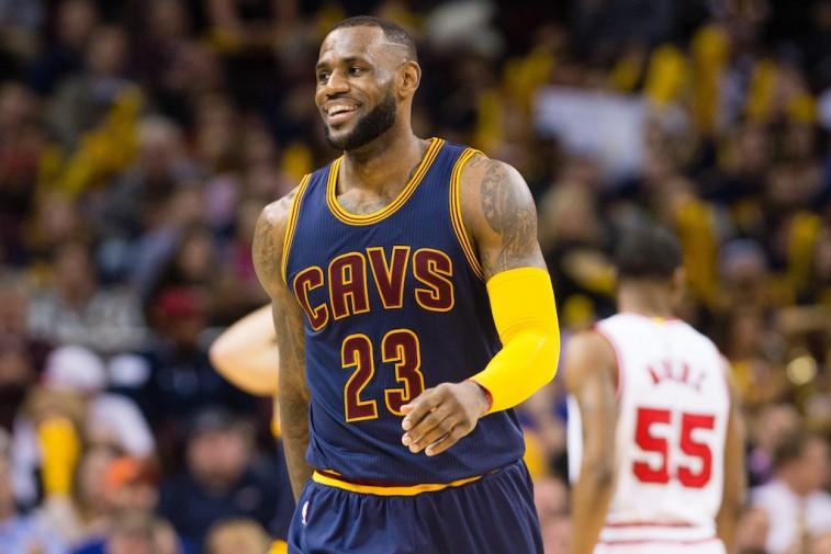 LeBron James against the Chicago Bulls