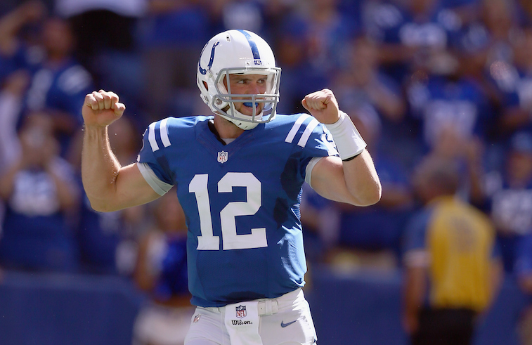 Andrew Luck against the Tennessee Titans