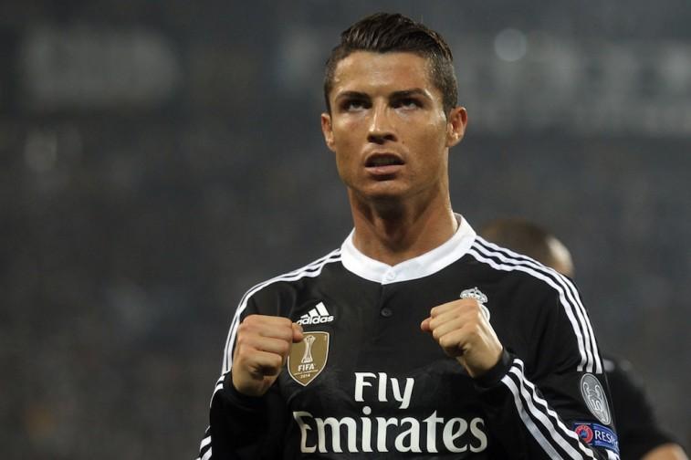 Cristiano Ronaldo celebrates after scoring a goal