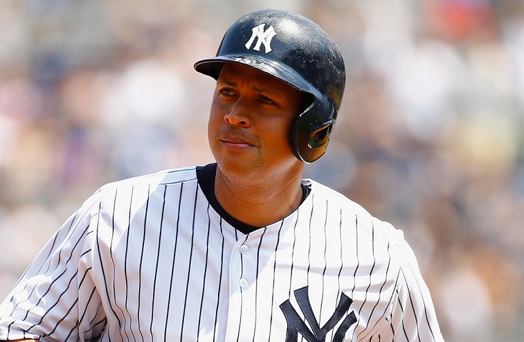 Alex Rodriguez during a game against the Royals