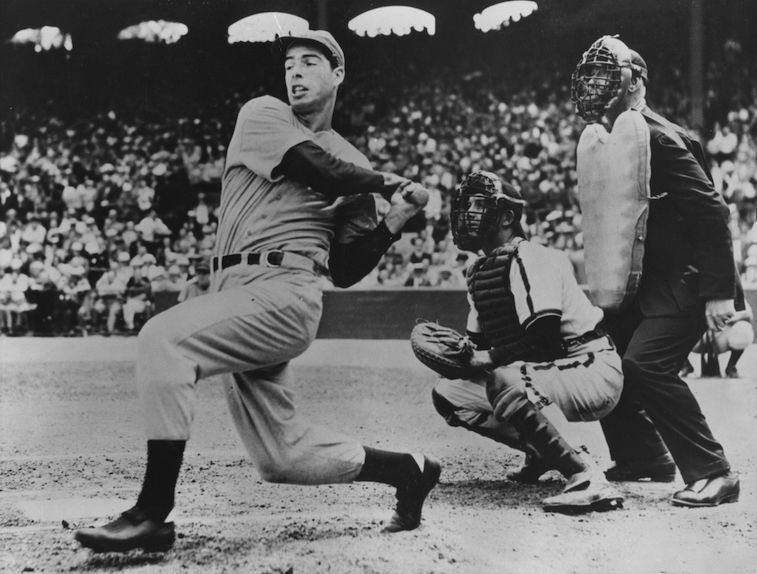 American baseball player Joe DiMaggio