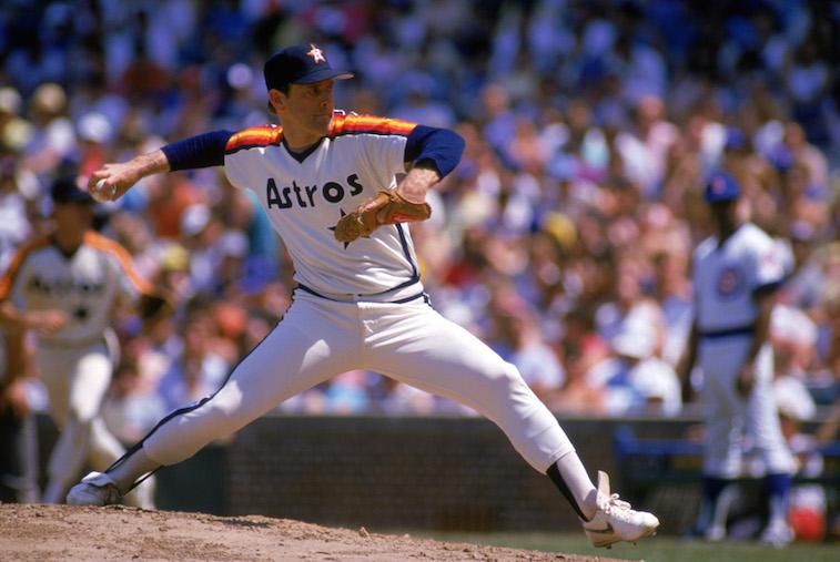 Nolan Ryan attempts a no-hitter.