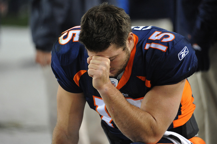 "Tim Tebow is ""Tebowing"""