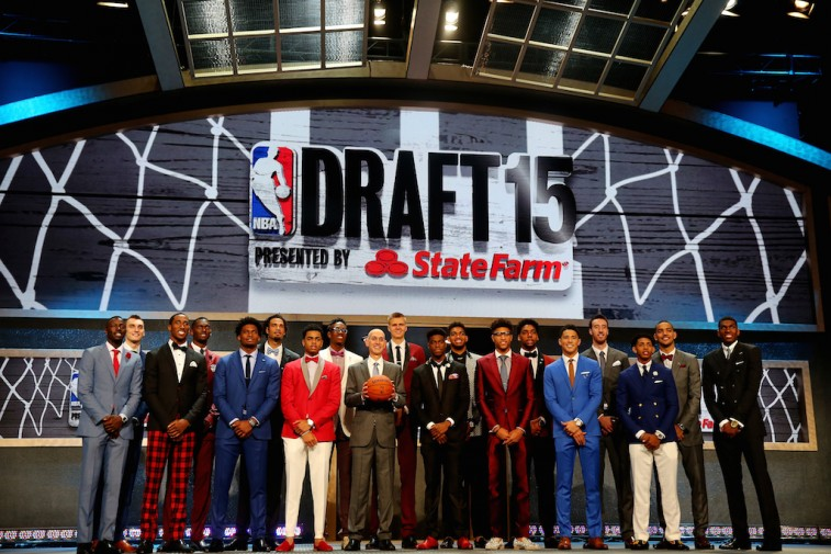 Adam Silver and top prospects 2015 NBA Draft